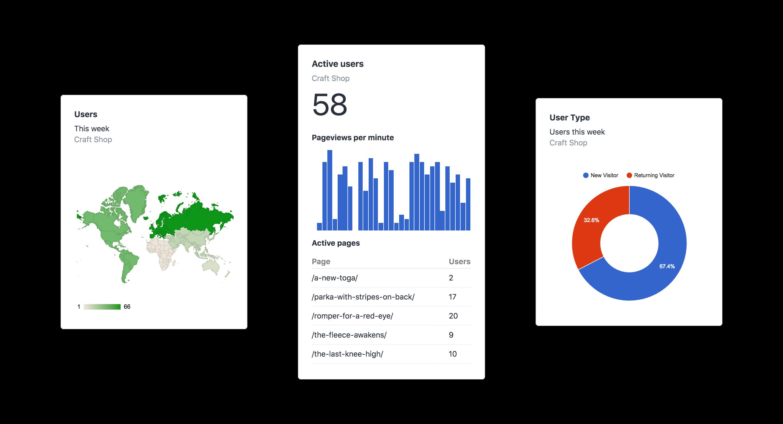 Analytics Screenshot: Analytics Widgets
