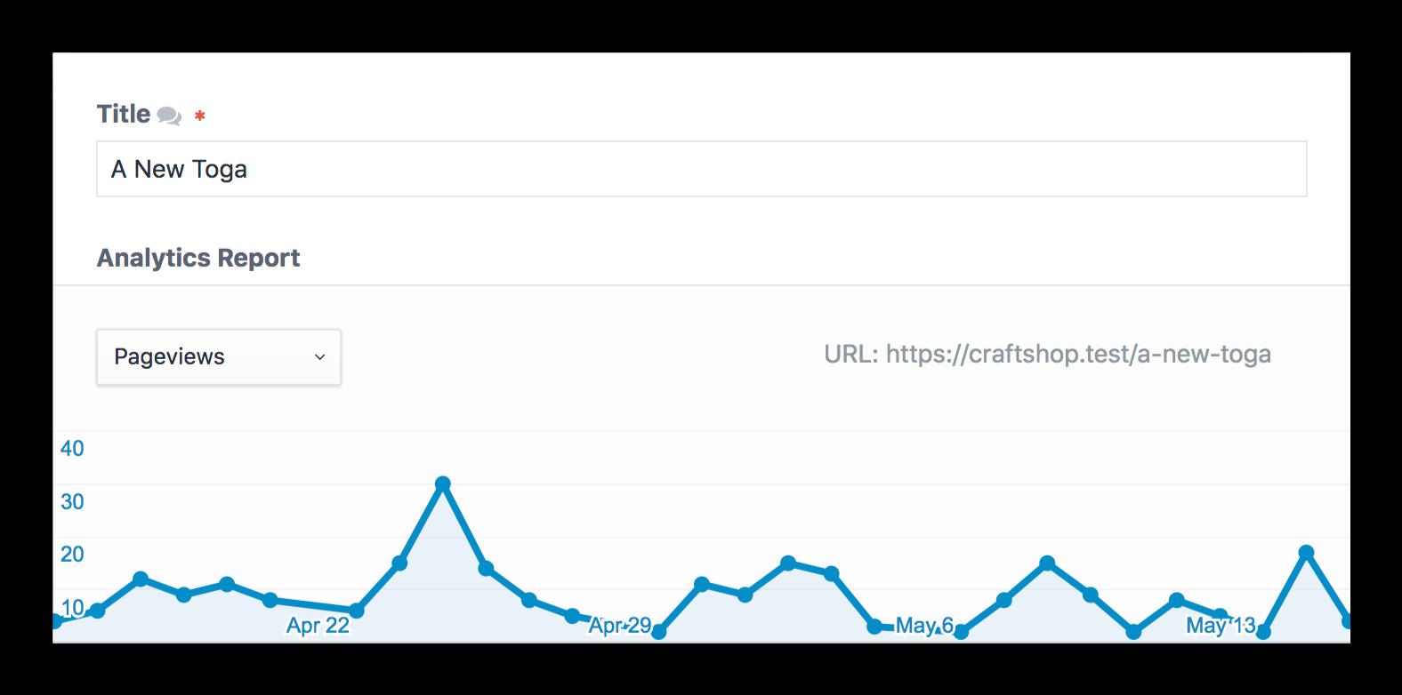 Analytics Screenshot: Report Field