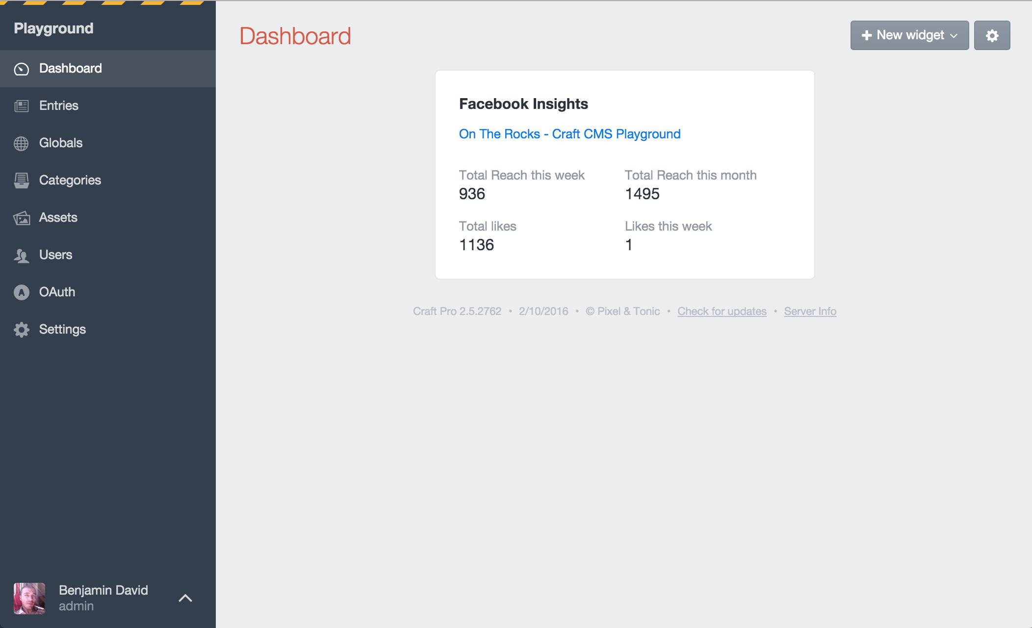 Facebook Screenshot: Insights